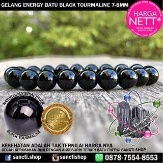 GELANG ENERGY BATU BLACK TOURMALINE 7-8MM