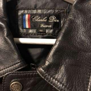法國牛皮 皮褸 Vintage- Charles Dior 復古(not rrl/ McCoy/Levi's /lvc)