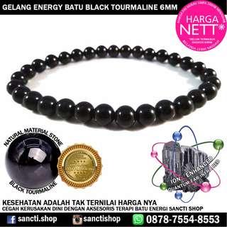 GELANG ENERGY BATU BLACK TOURMALINE 6MM