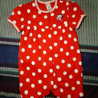 carters polka red romper