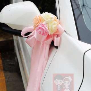 <New> Wedding Car Decoration, Bridal Deco, Handicraft Decor