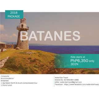 AFFORDABLE BATANES PROMO PACKAGE