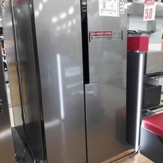 Kulkas LG 2 pintu Side by Side cicilan tanpa kartu credit dp cuma 200 rb