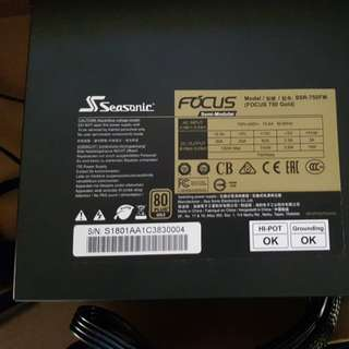 Seasonic focus 750w 80+ gold PSU