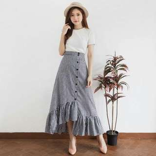 Plaid skirt - baju cewe