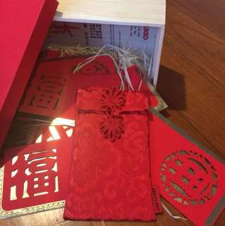 CNY 2018 Ang Pao / Red Packets fr Odetoart 6 Ang Pao with the Silk Casing