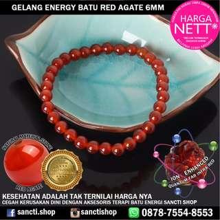 GELANG ENERGY BATU RED AGATE 6MM