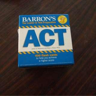Barron's ACT 400 flash cards