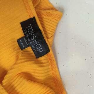 Topshop yellow top