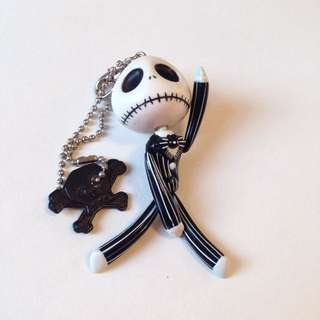 Vintage Jack Large Figure Keychain The Nightmare Before Christmas 怪誕城之夜手腳活動大匙扣 扭蛋食玩