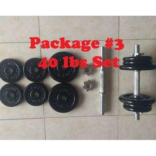40 lbs Dumbbell Set