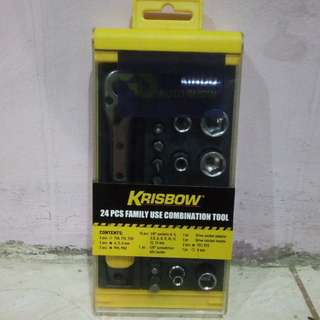 Krisbow 24Pcs Family Use Combination Tool