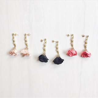 Floral Tassel Earrings