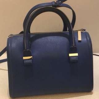 Victoria Beckham blue handbag