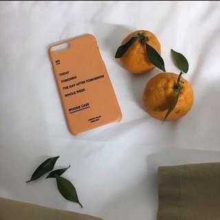 Murmure 韓妞拿的秋冬最美橘子磨砂殼