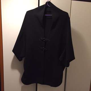 🚨SALE🚨korea black bulky cape jacket