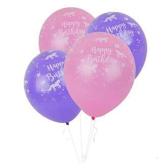 🌈 Girls Unicorn theme party supplies - birthday balloons
