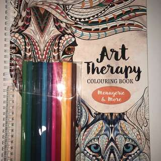 Art Therapy Book + Pencils