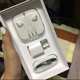 100 original iphone charger and earphones