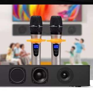 Home Karaoke KTV cum Theatre Entertainment System Sound Bar 300W 10 Speakers Built In Subwoofer