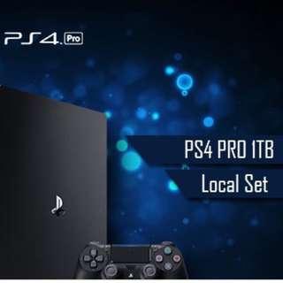 PS4 PRO 1TB Black - Local Set