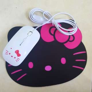Hello Kitty USB Mouse / Mouse Pad