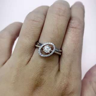 18K白。玫瑰金鑽石戒指💍