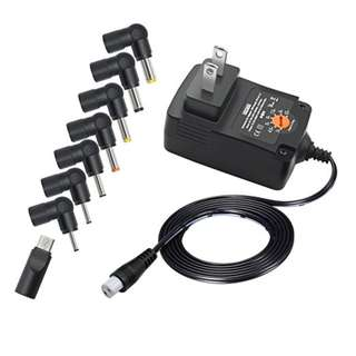 ZOZO 12W Universal Replacement Multi Voltage 3V 4.5V 5V 6V 7.5V 9V 12V AC DC Adapter Switching Power Supply with 8 Connectors 1000mA Output -- 601