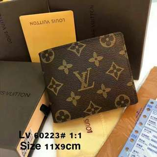 Louis Vuitton Leather Wallet Monogram