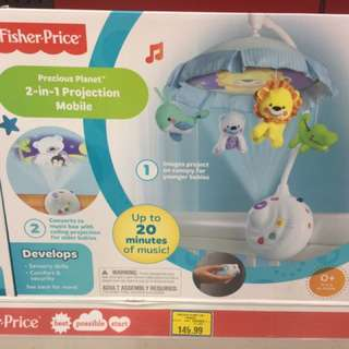 """Like New Fisher Price Projector Mobile """"precious planet"""""""