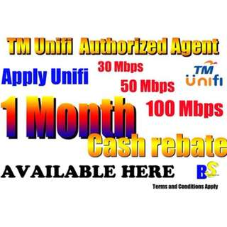 1 Month Rebate for unifi apply