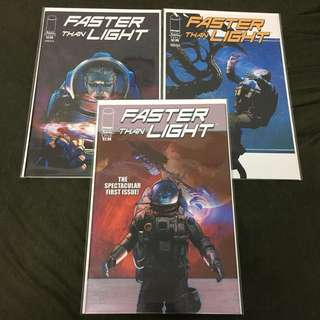 Faster Than Light 1 to 3 Image Comics Book Deep Space Movie