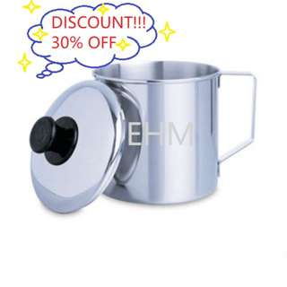 Stainless Steel SUS304 7CM Coffee Mug With Cover ( DISCOUNT!!! 30% OFF )