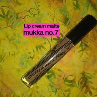 Lip cream matte Mukka no.7