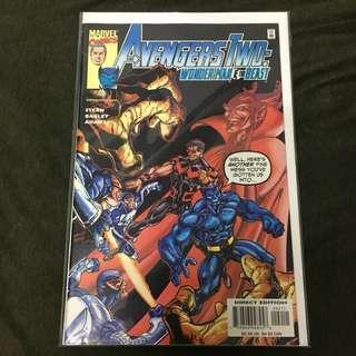 Avengers Two: Wonder Man & The Beast 2 Marvel Comics Book Stan Lee Movie Xmen