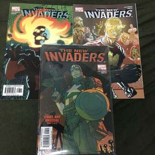 The New Invaders 7 to 9 Marvel Comics Book Avengers Movie