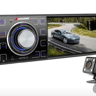 come with free rear camera and cable 4.1 HD Car MP5 Player Supports Rear View Camera/1080P/Stereo FM Radio/Charger/MP3/MP4//Audio/Video mp3 player with usb/SD PORT /bluetooth call in out
