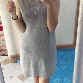 Knitted long dress/top
