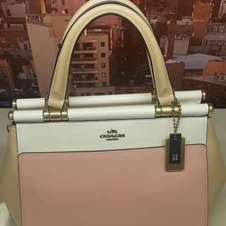 New Coach Bag in Color Block OL/Peony Multi