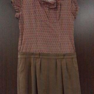 Brown Voerin Dress