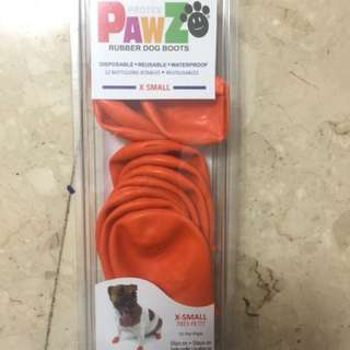 Pawz rubber dog boots (disposable reusable waterproof) X-small size