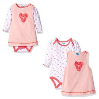 SALE 50% Off - 18/24 Mths BNWT Bebe baby girls 2pc set  (longsleeve bodysuit, corduroy dress)