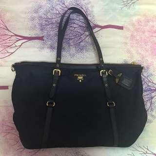 PRADA手袋 包包 深藍(近乎黑色)