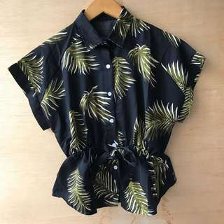 Kemeja Ikat Palm