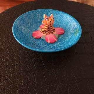 Cat Incense Holder- blue