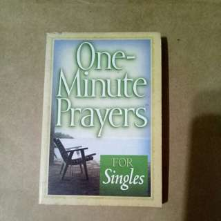 One minute prayers for singles