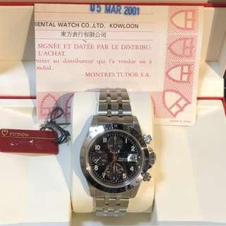 Tudor-Tiger-888行貨-出世紙-紅牌仔-錶盒!