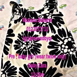 Dress baby perempuan brand zara