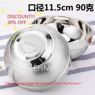 2 Pcs Set Stainless Steel SUS304 Double Layer Anti Hot Bowl 11.5Cm & 16CM ( DISCOUNT!!! 30% OFF )