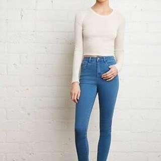 Forever 21 High waisted blue denim jeans